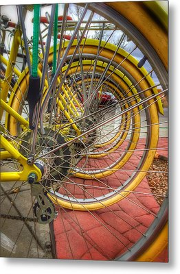 Wheels Within Wheels Metal Print by Mark David Gerson