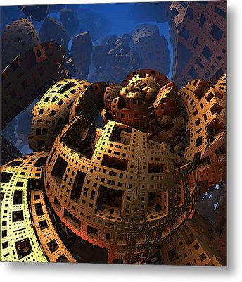 Metal Print featuring the digital art When Black Friday Comes by Lyle Hatch