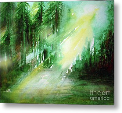 Metal Print featuring the painting When Forest Sings by Allison Ashton