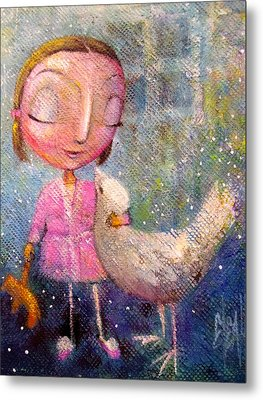 Metal Print featuring the painting When I'm With You by Eleatta Diver