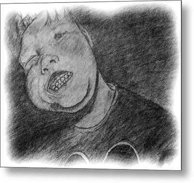 Metal Print featuring the drawing When John Was Johnny by Shelley Bain