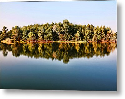 Metal Print featuring the photograph When Nature Reflects by Bill Kesler