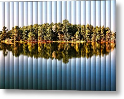 Metal Print featuring the photograph When Nature Reflects - The Slat Collection by Bill Kesler