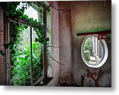 When Nature Takes Over - Urban Exploration Metal Print by Dirk Ercken
