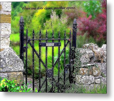 When One Door Closes Metal Print by Jen White