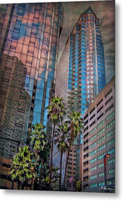 When Palmtrees Become Nondescript Metal Print by Hanny Heim