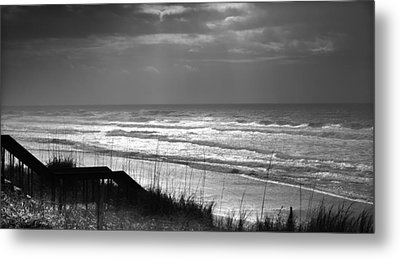 When Silver Dances Upon The Sea Metal Print