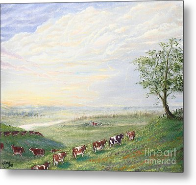When The Cows Come Home 1991 Metal Print by Wingsdomain Art and Photography
