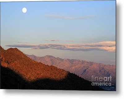 When The Mountains Turn Pink... Metal Print
