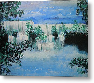 Metal Print featuring the painting When The Rivers Rise by Dan Whittemore