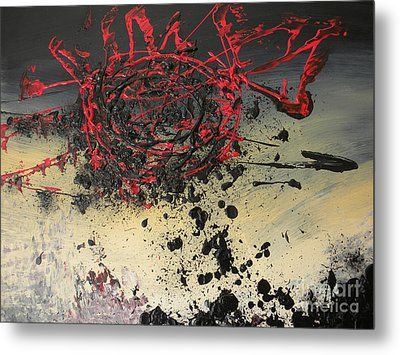 When The Sun Finally Explodes Metal Print by Silvie Kendall