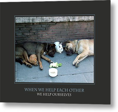 When We Help Each Other Metal Print by Donna Corless
