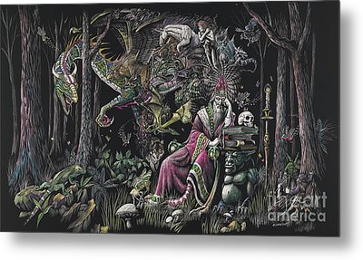When Wizards Dream Metal Print by Stanley Morrison