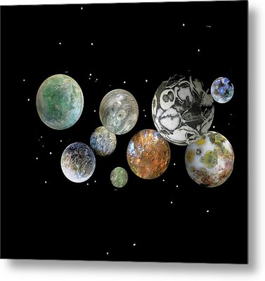 Metal Print featuring the photograph When Worlds Collide by Tony Murray