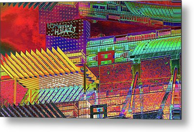Metal Print featuring the digital art Where City Shadows Fall by Wendy J St Christopher