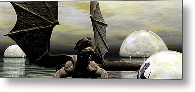 Where Dragons Be Metal Print by Sandra Bauser Digital Art