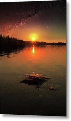 Where Heaven Touches The Earth Metal Print by Rose-Marie Karlsen