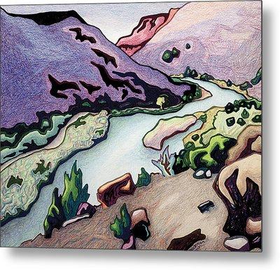 Where I Cross The Rio Grande Metal Print by Dale Beckman
