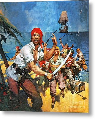 Where Once Buccaneers Reigned Metal Print by James Edwin McConnell