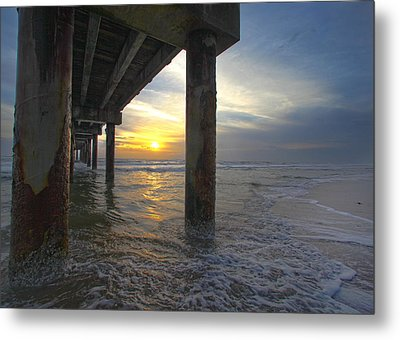 Where The Sand Meets The Surf Metal Print