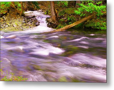 Metal Print featuring the photograph Where The Stream Meets The River by Jeff Swan
