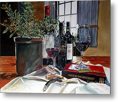 Metal Print featuring the painting Where To Begin by Gail Chandler