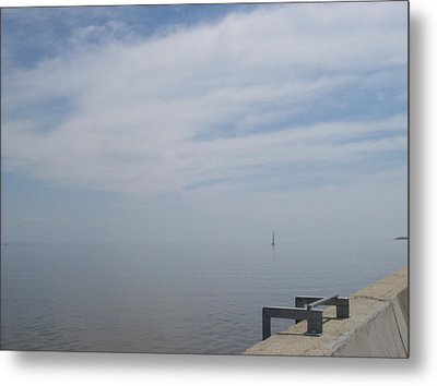 Metal Print featuring the photograph Where Water Meets Sky by Mary Mikawoz