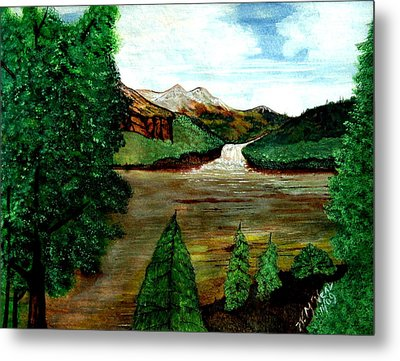 Where Water Meets Metal Print by Willie McNeal