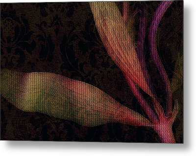 While The Flowers Slept Metal Print by Bonnie Bruno