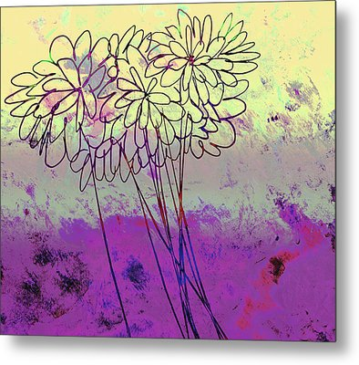 Whimsical Flower Bouquet Metal Print by Ann Powell