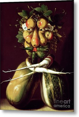 Whimsical Portrait Metal Print by Arcimboldo