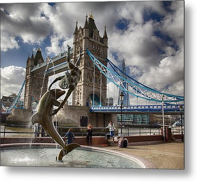 Whimsy At Tower Bridge Metal Print