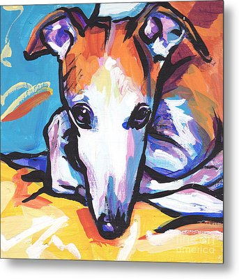 Whippet Love Metal Print by Lea S
