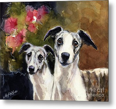 Whippets Metal Print by Molly Poole