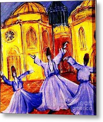 Whirling Dervishes 2 Metal Print by Duygu Kivanc