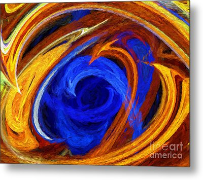 Metal Print featuring the digital art Whirlpool Abstract by Andee Design