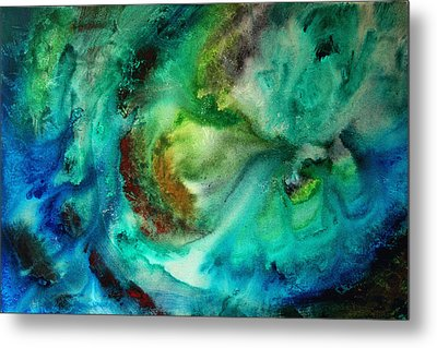 Whirlpool By Madart Metal Print by Megan Duncanson