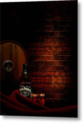 Whiskey Fancy Metal Print by Lourry Legarde