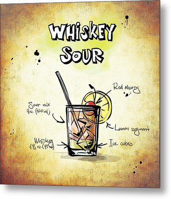 Whiskey Sour Metal Print by Movie Poster Prints