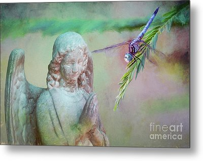 Metal Print featuring the photograph Whisper Of Angel Wings by Bonnie Barry