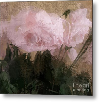 Whisper Of Pink Peonies Metal Print by Alexis Rotella
