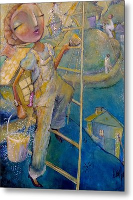 Metal Print featuring the painting Whistle While You Work by Eleatta Diver