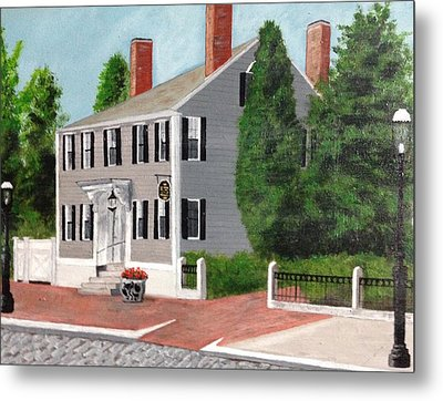 Metal Print featuring the painting Whistler House by Cynthia Morgan