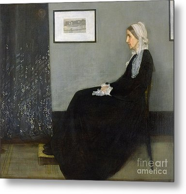 Whistlers Mother Metal Print by James Abbott McNeill Whistler