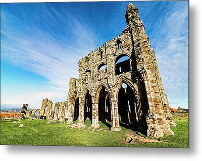 Metal Print featuring the photograph Whitby Abbey by Anthony Baatz