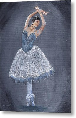 Metal Print featuring the painting White Ballerina by Jamie Frier