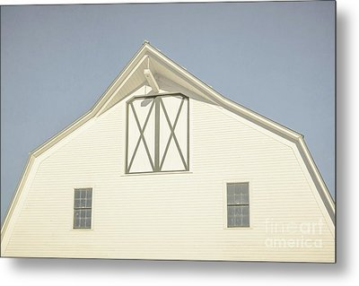 White Barn South Woodstock Vermont Metal Print by Edward Fielding
