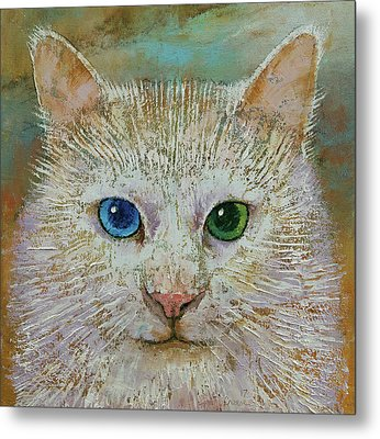 White Cat Metal Print by Michael Creese
