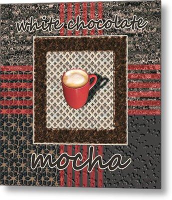 White Chocolate Mocha - Coffee Art Metal Print by Anastasiya Malakhova