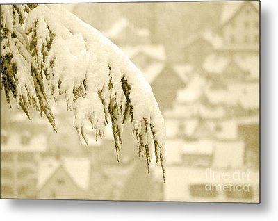 Metal Print featuring the photograph White Christmas - Winter In Switzerland by Susanne Van Hulst